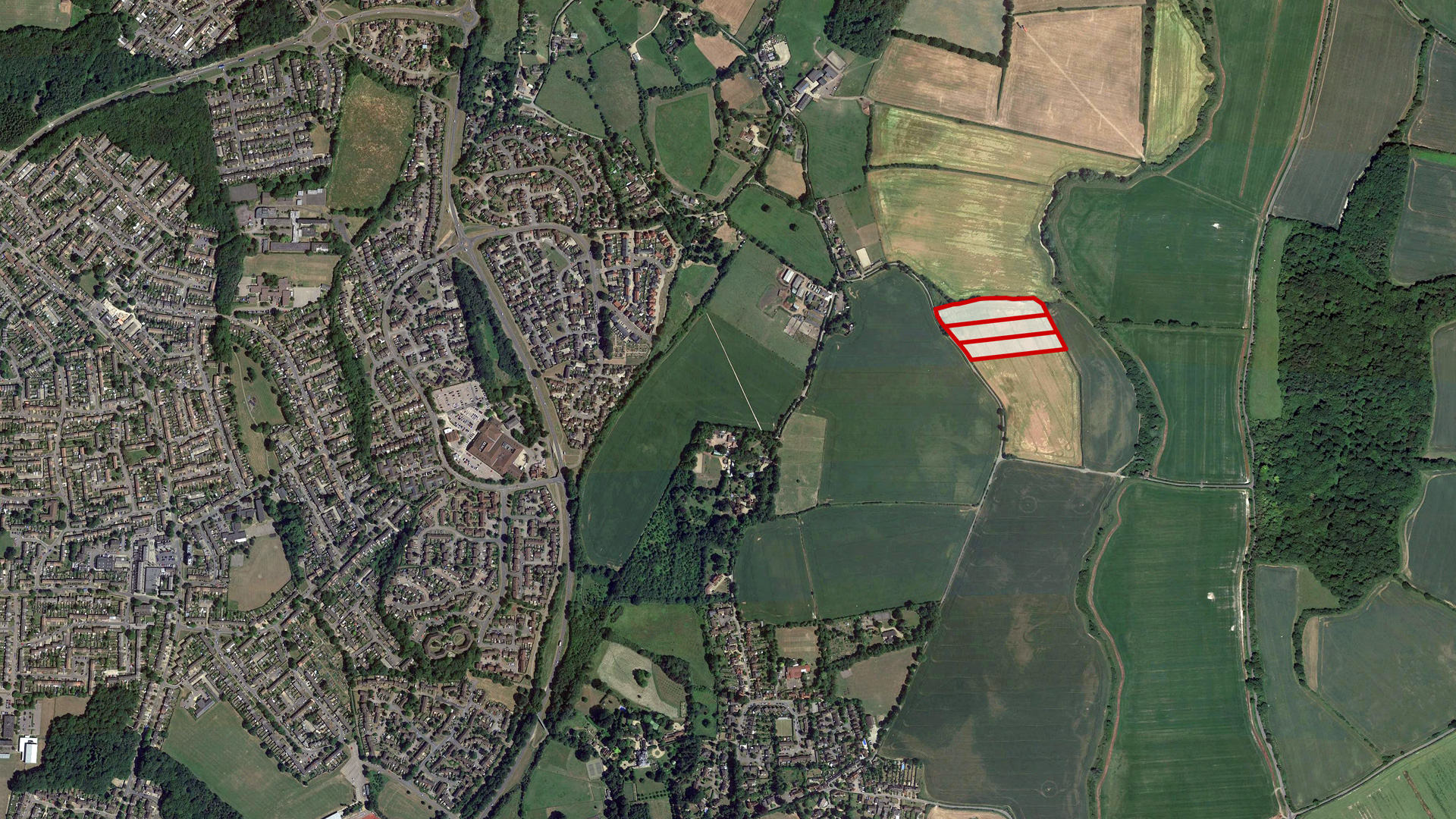 Land for sale in Aston End aerial image