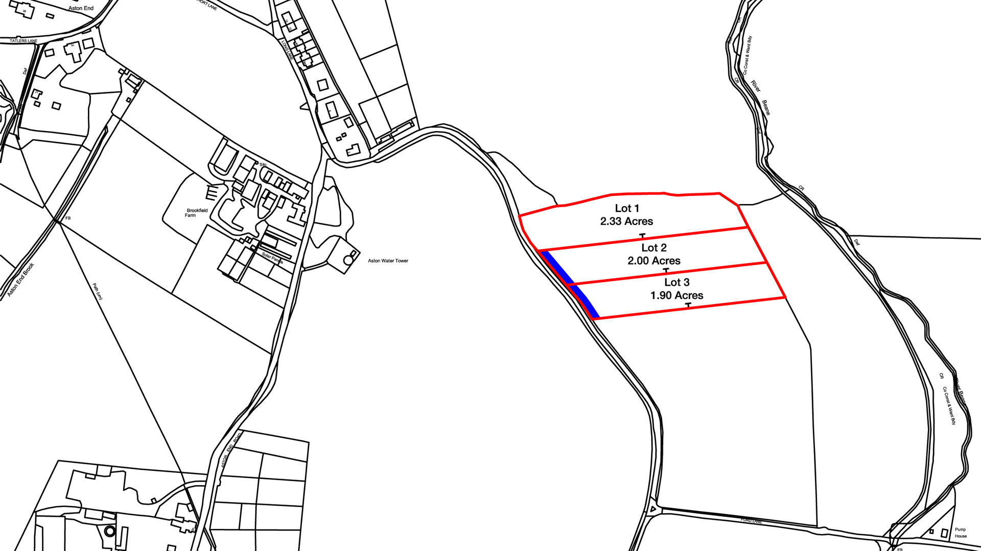 Land for sale in Aston End site plan
