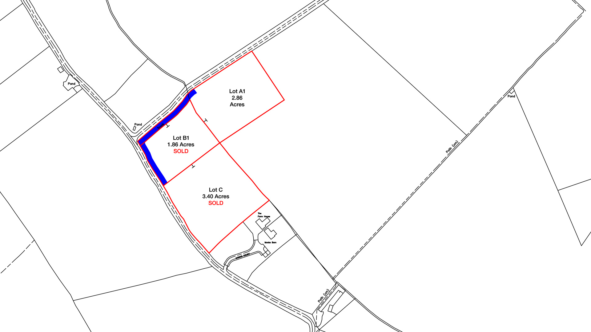 Land for sale in Buckland site plan