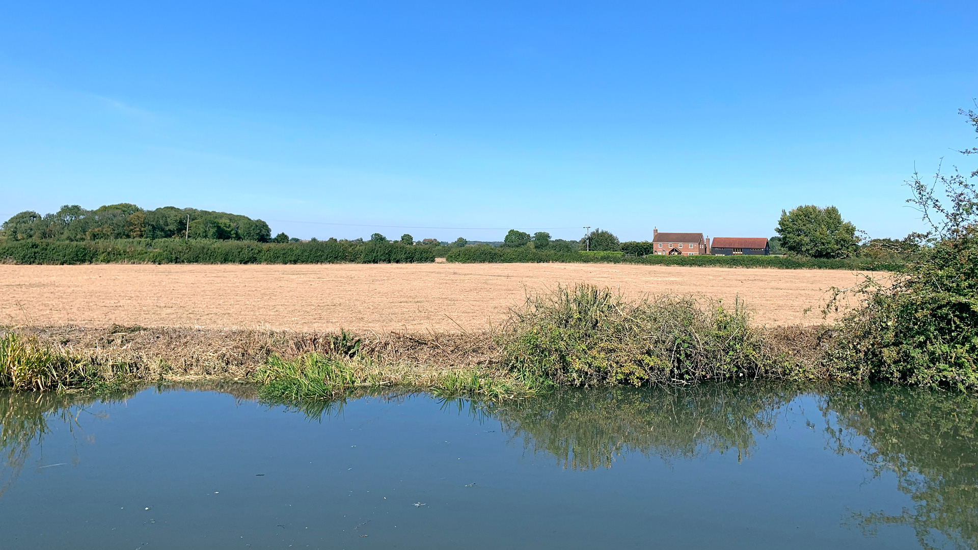 Land for sale with canal frontage