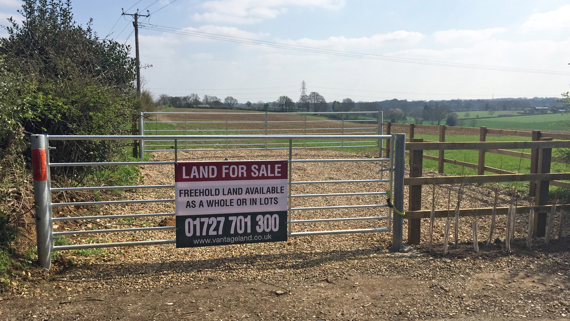 Land for sale on Cupid Green Lane