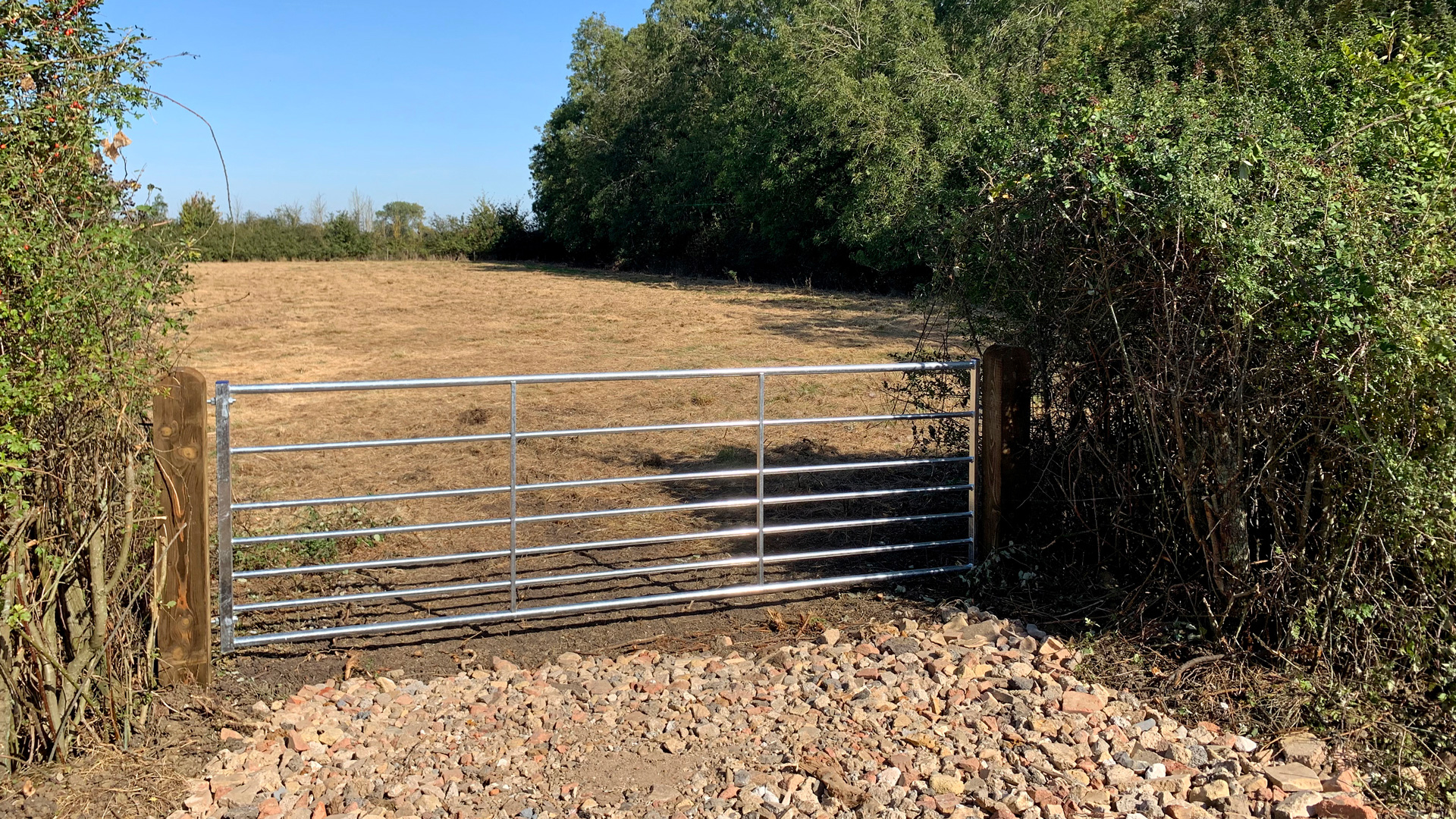 Land for sale at Draytonmead Farm private access to Lot 3