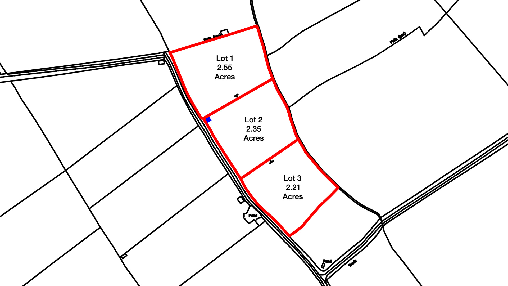 Land for sale at Draytonmead Farm site plan
