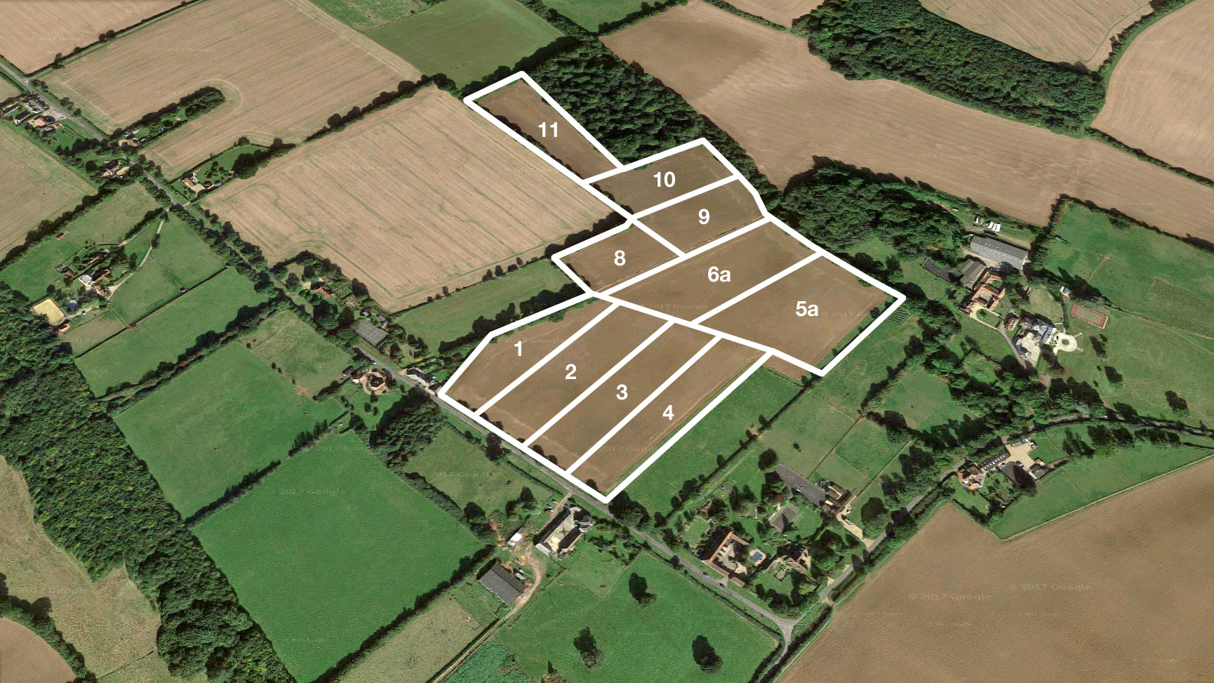 Land for sale in Gaddesden Row aerial view