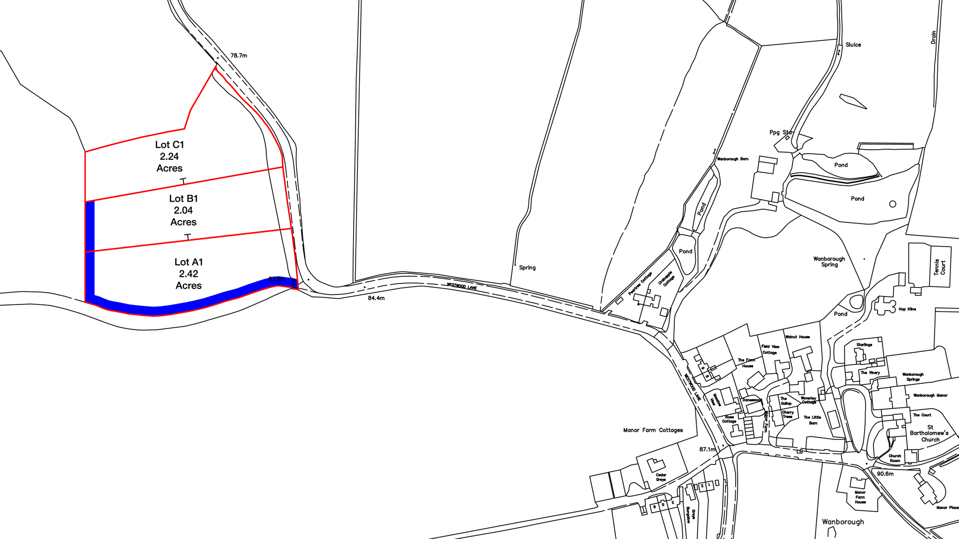 Land for sale in Guildford site plan