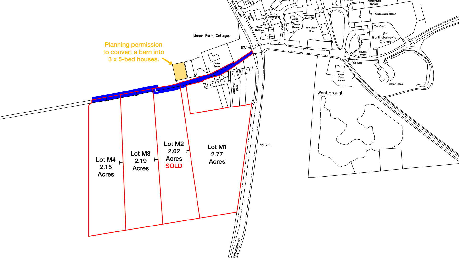 Land for sale at Manor Farm Cottages site plan