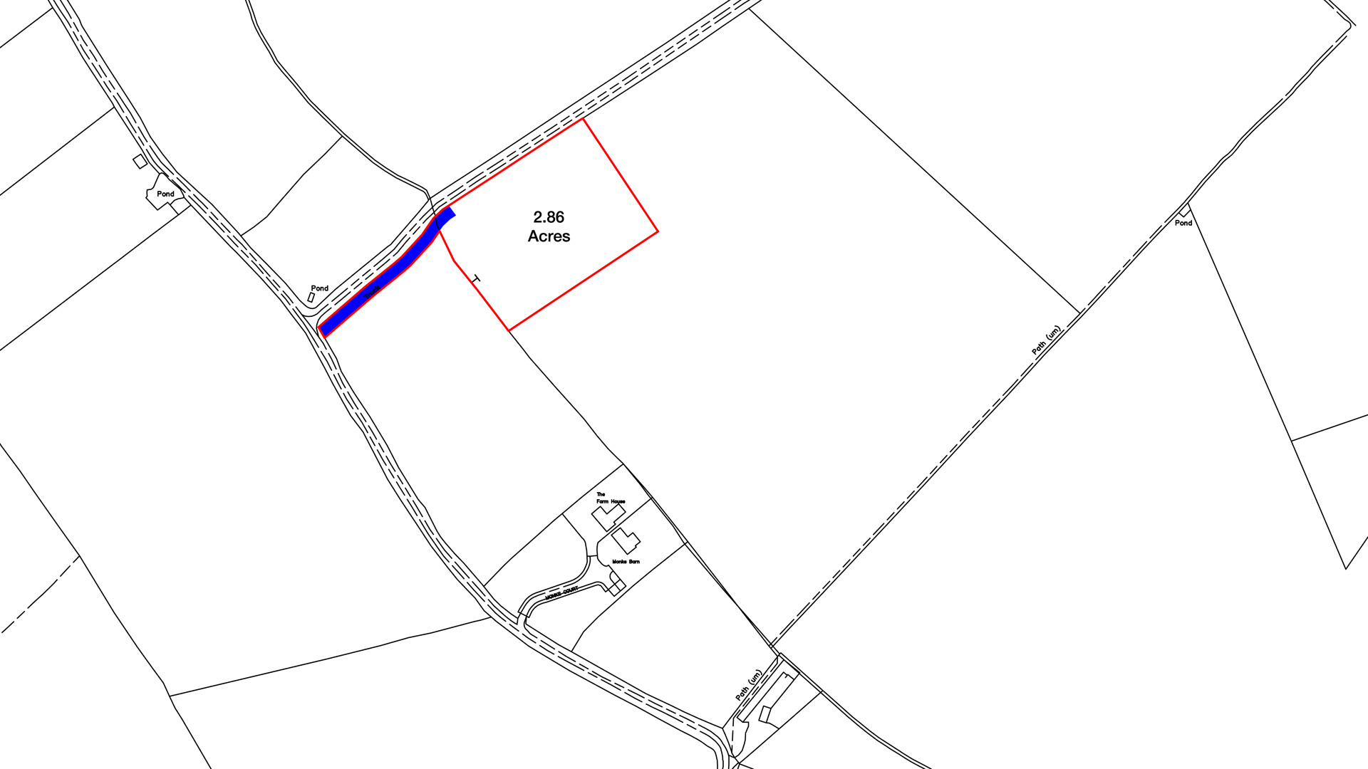 Land for sale in Puttenham, Tring site plan