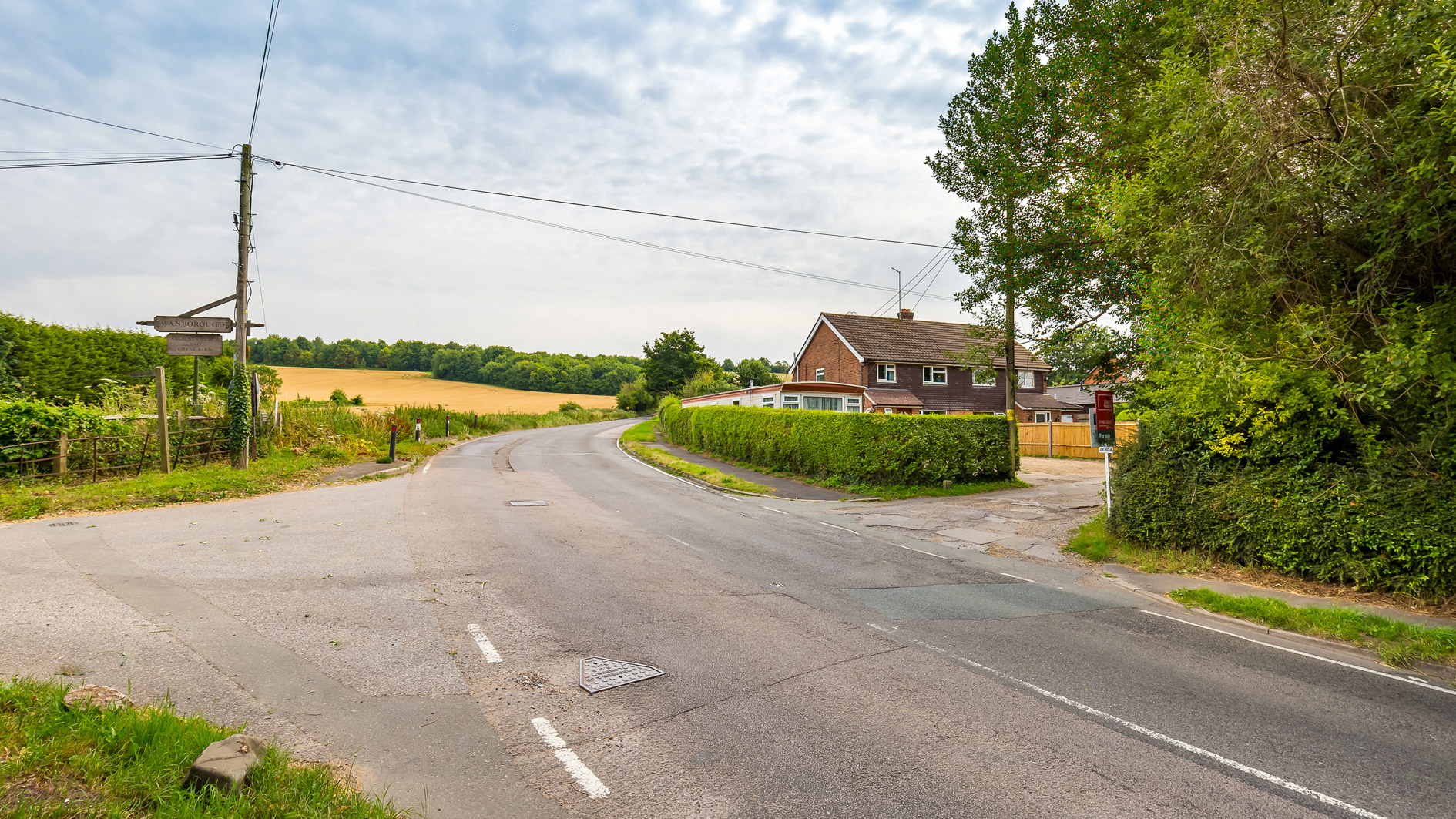 Land for sale at Manor Farm Cottages entrance